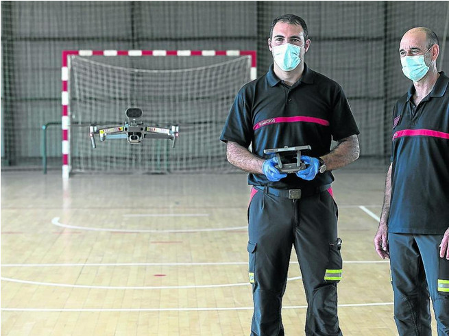 Los bombreros de Zaragoza crean una unidad de drones